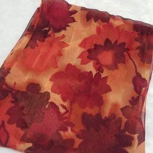Fall color long sheer scarf